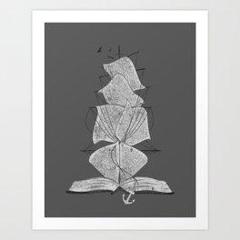 The Story Ship Art Print