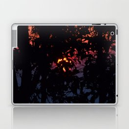 Sunrise Through Smoke and Leaves Laptop & iPad Skin