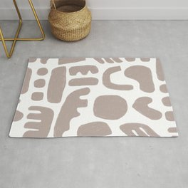 Rock Collection in Clay Rug