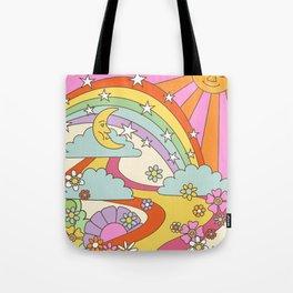 retro hippie boho print  Tote Bag