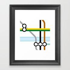 Tube Junction 2 Framed Art Print