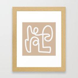 beige squiggle Framed Art Print