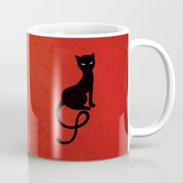 Red Gracious Evil Black Cat Coffee Mug