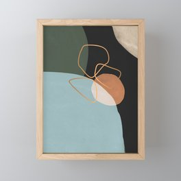 Geometric cosmos Framed Mini Art Print