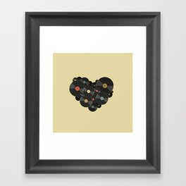 Heart of a Vinyl Lover Framed Art Print