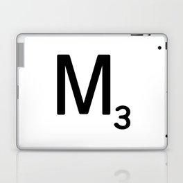 Letter M - Custom Scrabble Letter Tile Art - Scrabble M Initial Laptop & iPad Skin