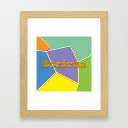 Boricua, Puerto Rico Framed Art Print