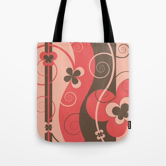 Modern Retro Butterfly Floral Graphic Art Tote Bag