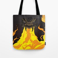 dungeons and dragons Tote Bags featuring DUNGEONS & DRAGONS - INTRO by Zorio