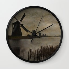 Windmills at Kinderdijk Holland Wall Clock
