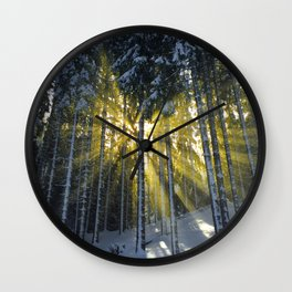The Golden Light (Color) Wall Clock
