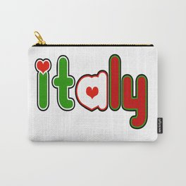 Italy Font with Italian Flag Carry-All Pouch