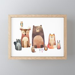 forest friends Framed Mini Art Print