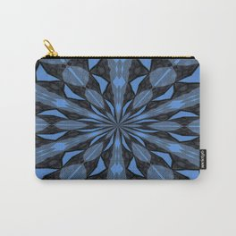 Blue Steel and Black Fragmented Kaleidoscope Carry-All Pouch