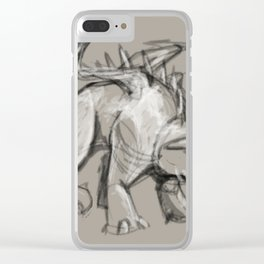 Dragon Sketch Clear iPhone Case