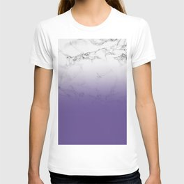Modern white marble ultra violet purple ombre gradient T-shirt