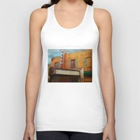 theater Tank Tops featuring The Crumbling Martin Theater by Little Bunny Sunshine