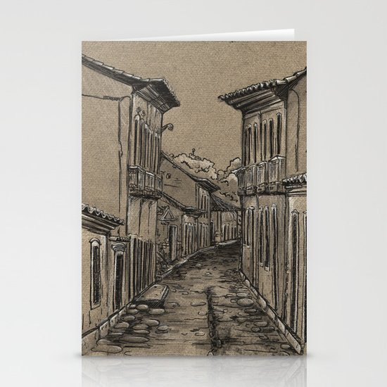 Old Village Alley Stationery Cards