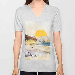 A Tale of Water and Sand Unisex V-Neck