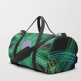 Neon Mandala Flower Duffle Bag