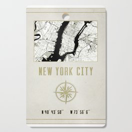 New York City Vintage Location Design Cutting Board