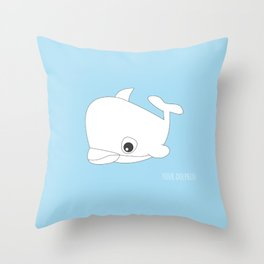 YOUR.DOLPHIN Throw Pillow