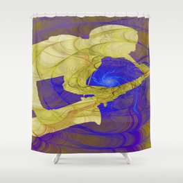 Saxophone player 01 Shower Curtain