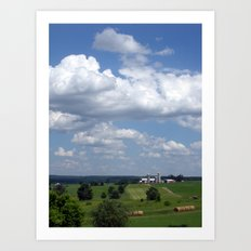 Wisconsin Farmland Art Print