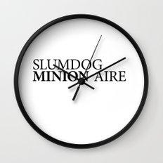 SLUMDOG MINION-AIRE Wall Clock