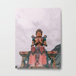 Statue of Maitreya Buddha Metal Print