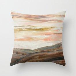 Rolling Desert Landscape Abstract Throw Pillow