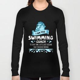 Swimming Coach Shirts Swimming Clothes Swim Coach Gift Ideas Long Sleeve T-shirt