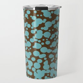 Bubbles in the Batter - Chocolate-Blue Travel Mug