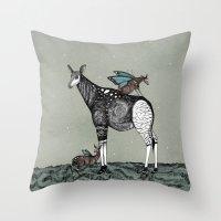starry night Throw Pillows featuring Starry Night by Kianna Kilgren