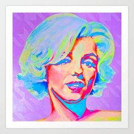 Rainbow Marilyn Art Print