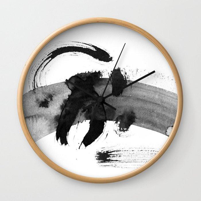 Brush black away Wall Clock