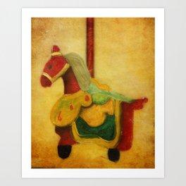The Woo Woo Carousel Horse Art Print