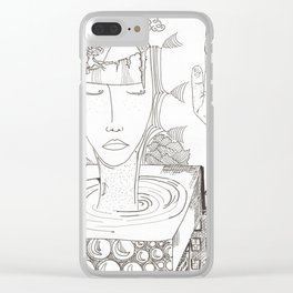 head mess Clear iPhone Case