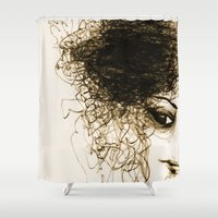 transparent Shower Curtains featuring Transparent by Sofia Karlström