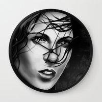 aaliyah Wall Clocks featuring Akasha by Chiyo Tattoo