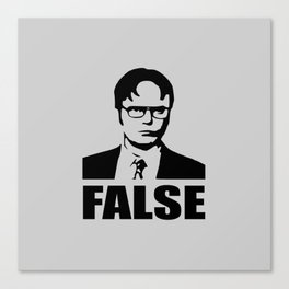 False funny saying Canvas Print