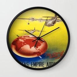 Vintage poster - Qantas Wall Clock