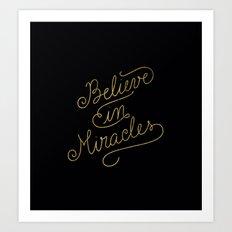 Miracles Gold Art Print
