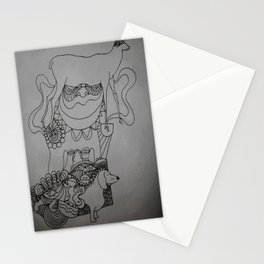 dackel & deer Stationery Cards