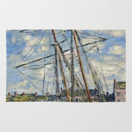Claude Monet - Boat Lying At Low Tide Rug