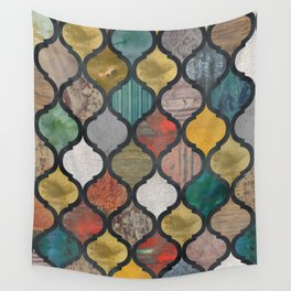 Boho Moroccan Ogee Pattern Wall Tapestry