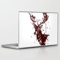 stag Laptop & iPad Skins featuring Stag by Bearded Hunter