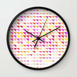 fete triangle pattern Wall Clock