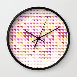 fete triangle pattern Wall Clock