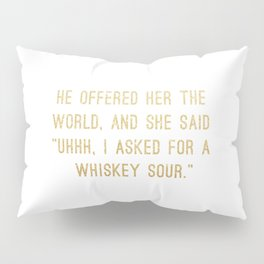 Whiskey Sour Pillow Sham